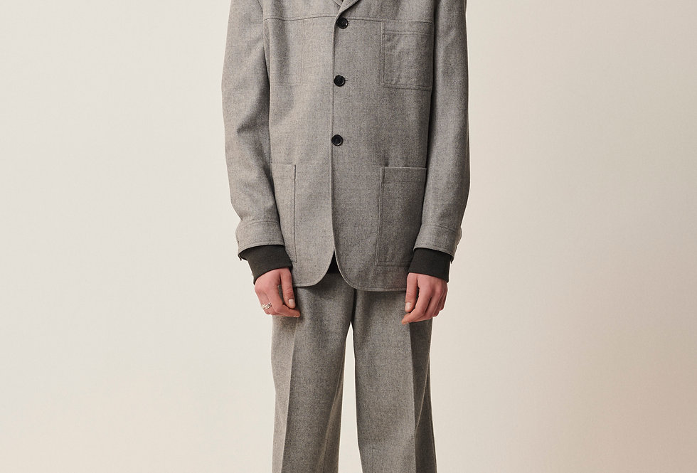 Tapered Tailor Jacket Grey