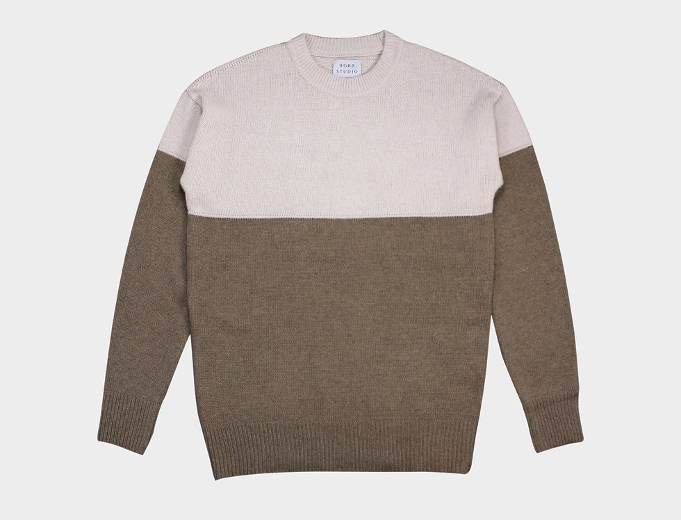 Knit wear sweater Beige brown