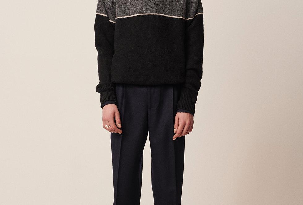 Knit wear sweater black