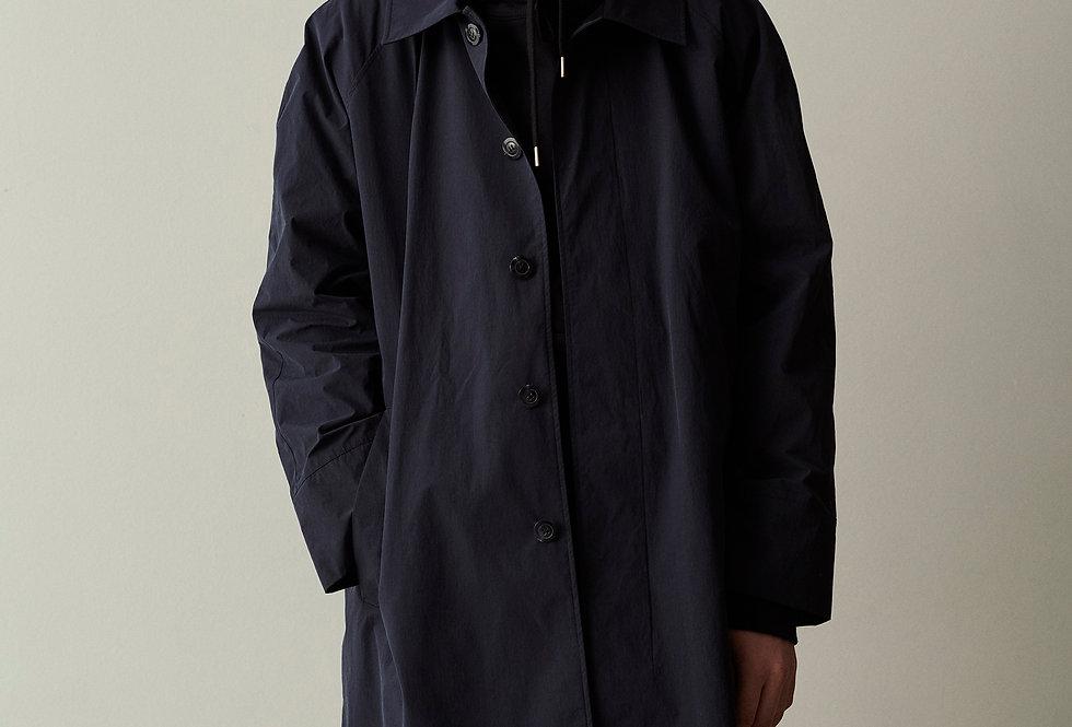 Balmacaan Coat Navy Blue
