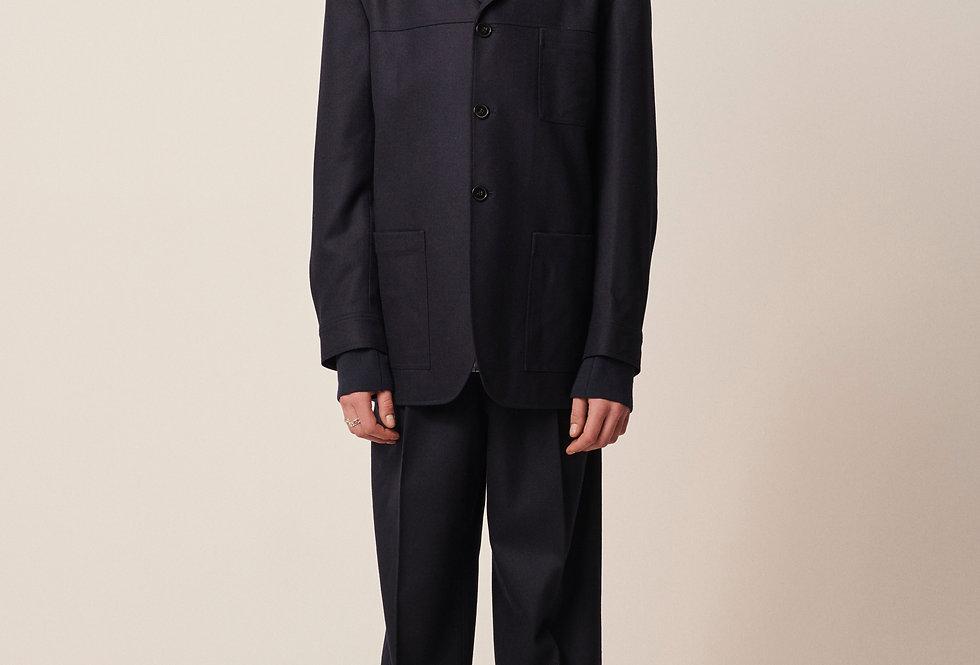 Tapered Tailor Pants Dark Blue