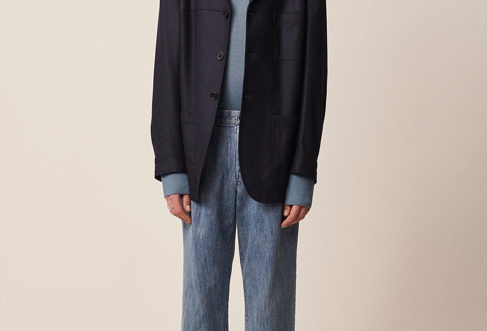 Tapered Tailor Jacket Dark Blue