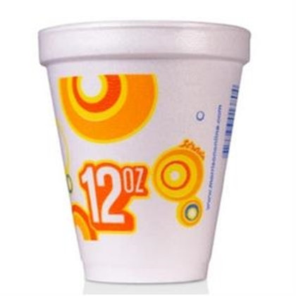 12 oz Disposable Styrofoam Cup