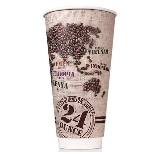 24 oz Disposable Paper Insulated Cup (R)