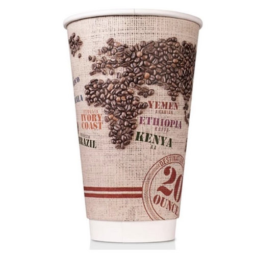 20 oz Disposable Paper Insulated Cup (R)