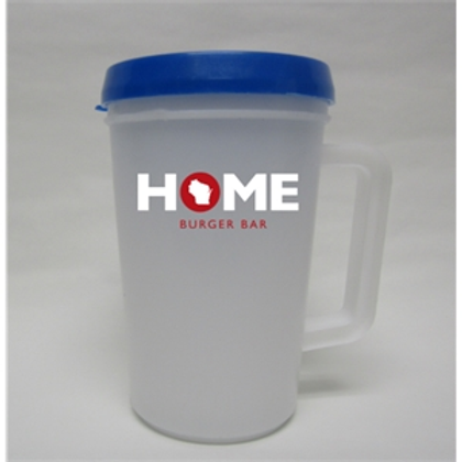 16 oz Insulated Thermo Mug with Flip Lid (R)