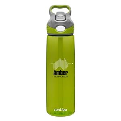 20 oz Plastic Water Bottle w/Straw