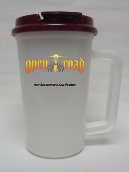 22 oz. Thermo Mug with Lid and Straw (R)