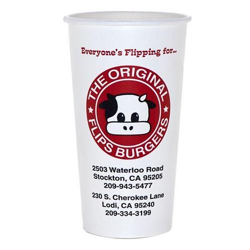 22 oz Disposable Paper Cold Cup (R)