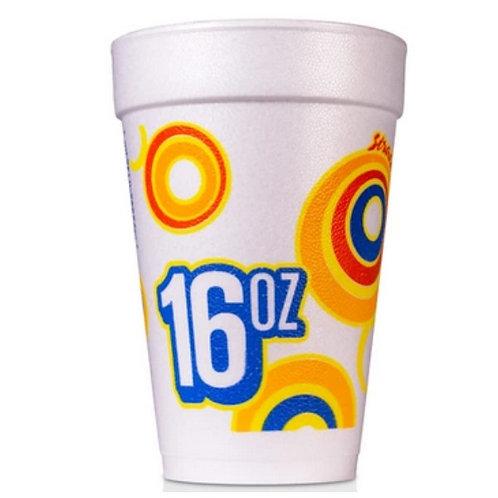 16 oz Disposable Styrofoam Cup (R)
