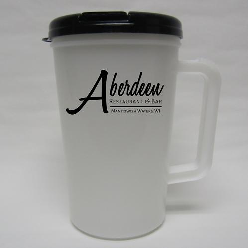 34 oz Thermo Mug with Lid and Straw (R)