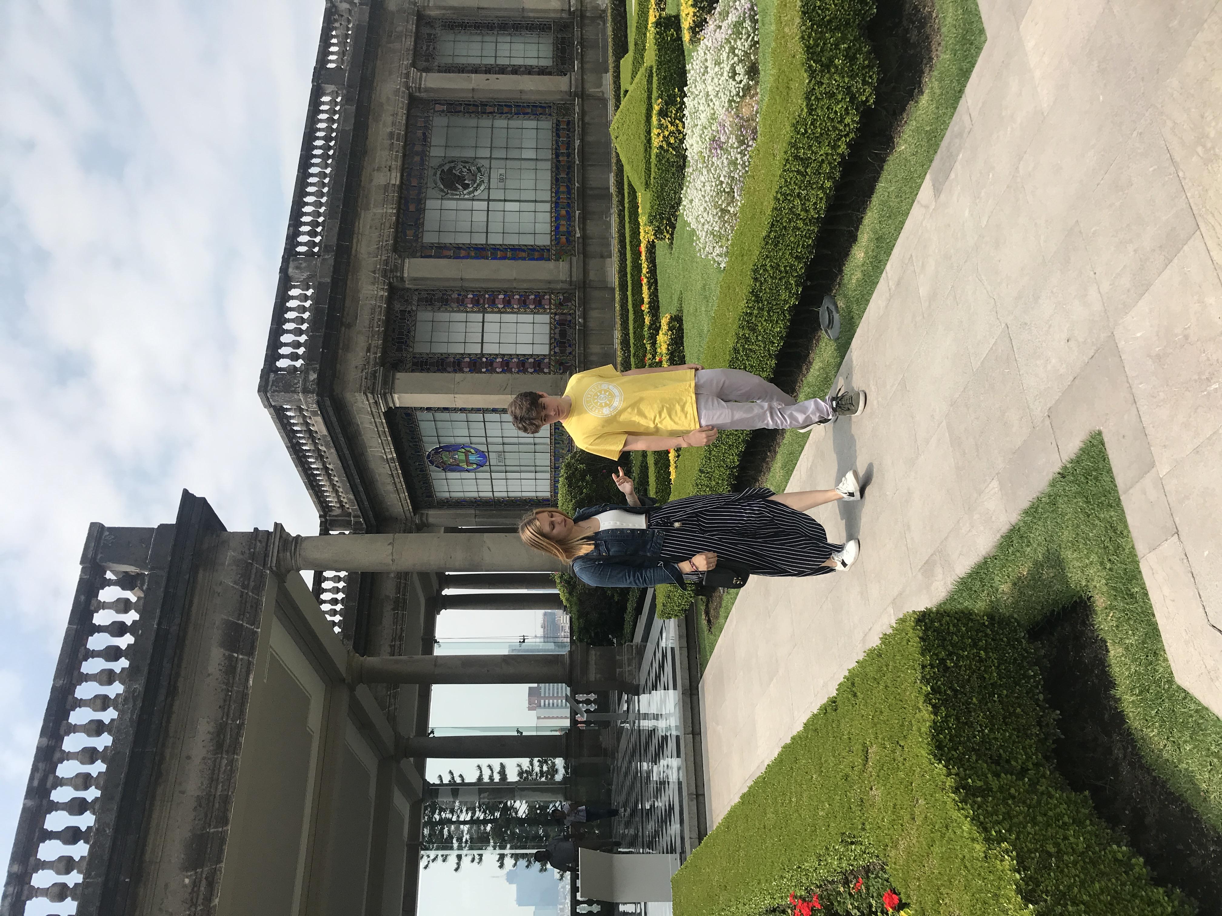 In the palacio de Chapultepec