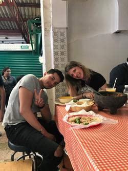 market eating at mexico city