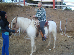 Horseback riding with some friends