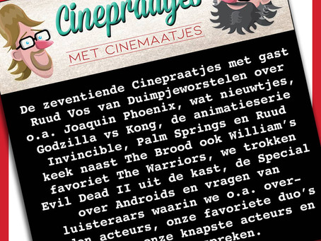Cinepraatjes s01e17: Godzilla vs Kong, Invincible, The Warriors, Androids