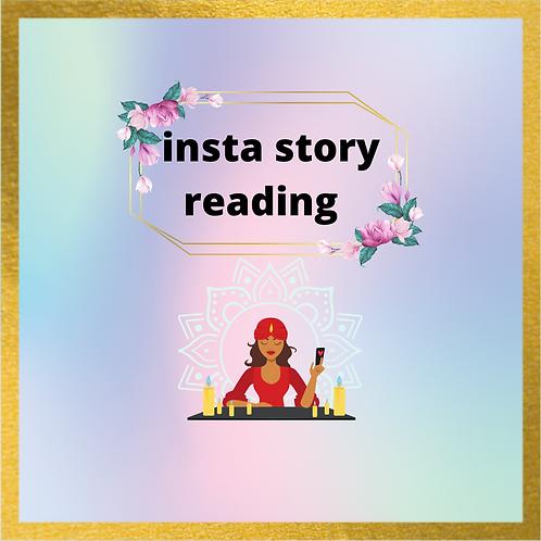 Insta story reading