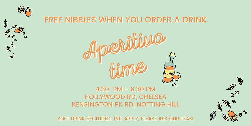 4.30 PM - 6.30 PM HOLLYWOOD RD, CHELSEA KENSINGTON PK RD, NOTTING HILL t&c apply, please a