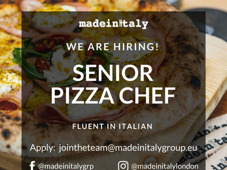SENIOR PIZZA CHEF (fluent Italian required)