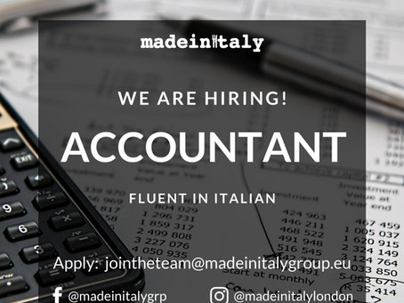 EXPERIENCED FULL TIME  ACCOUNTANT (fluent Italian required)