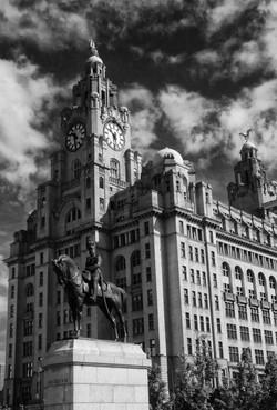 Derek Roberts liver and statue