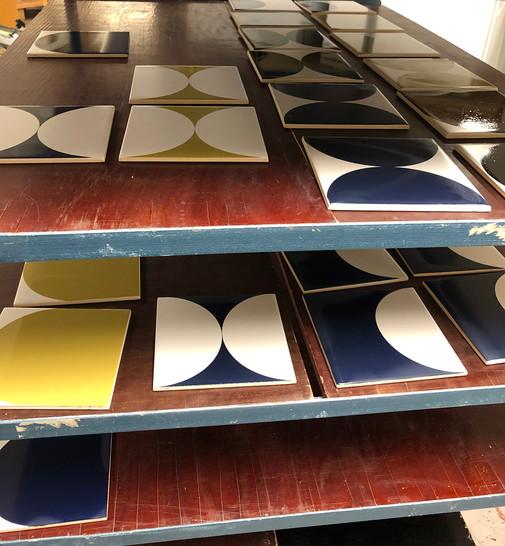 Freshly printed tiles