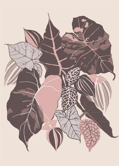 leaves pink