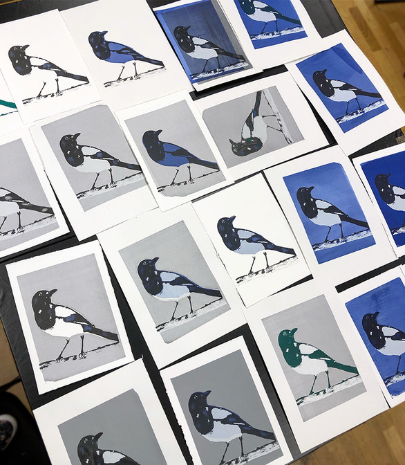 Magpie Art prints