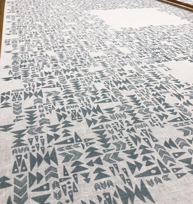 Arrows- screen printing process