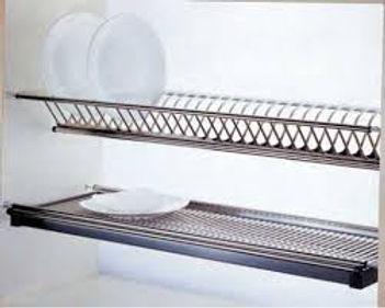giá up bát đĩa 2 tầng inox