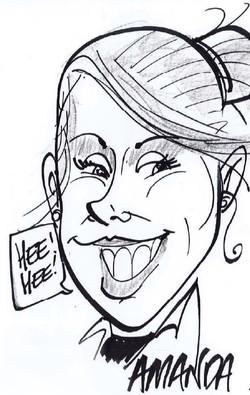 Drawing of team member Amanda