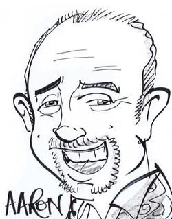 Drawing of team member Aaron