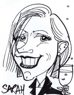 Drawing of team member Sarah