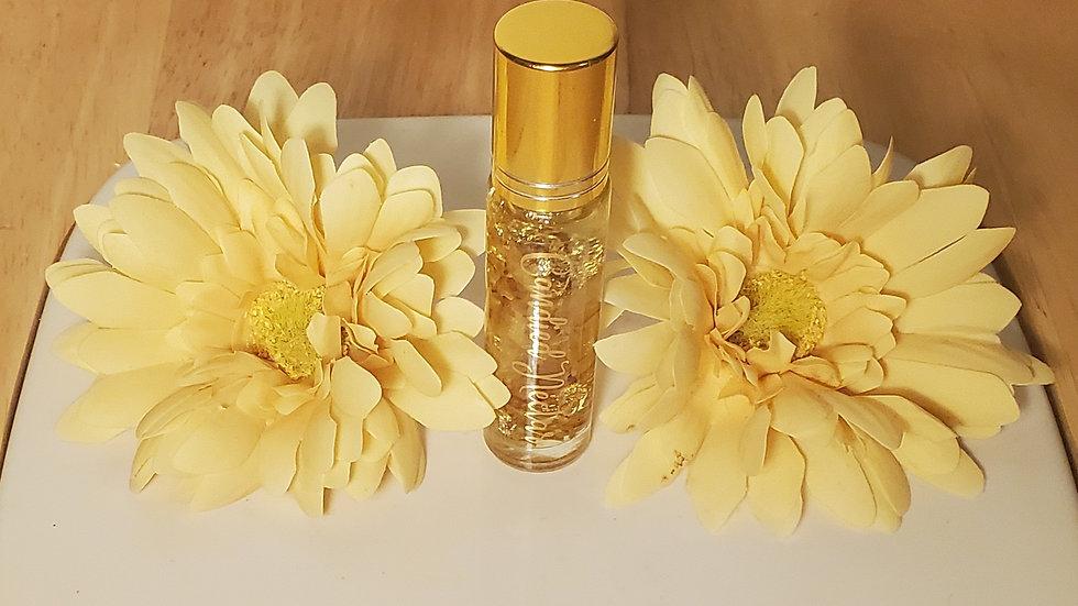 Calendula and gold flake lip oil