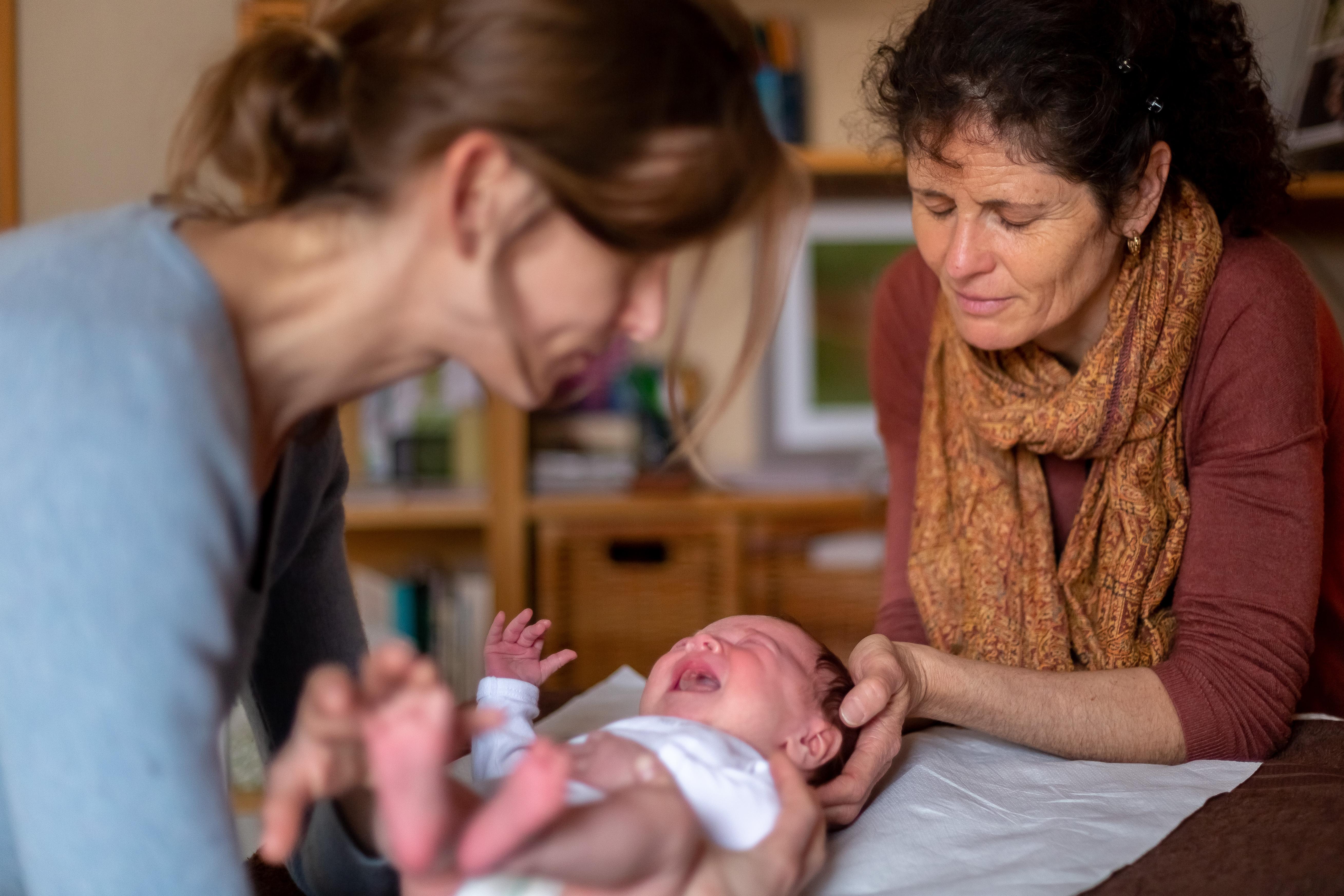 séance de somatopathie mère bébé