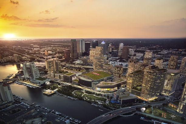 Water Street Tampa skyline