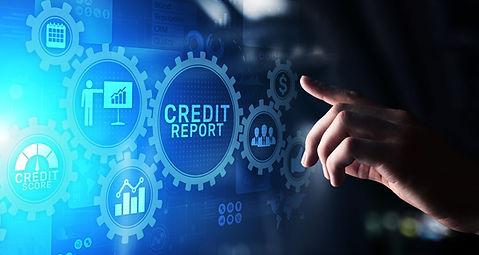 Credit report score button on virtual sc