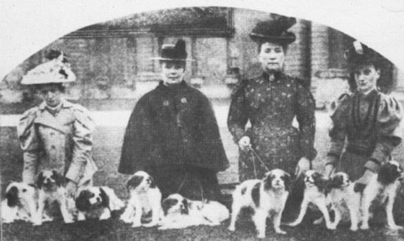 1898 Blenheim Spaniels owned by the 9th