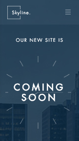 Business website templates – Coming Soon Landing Page