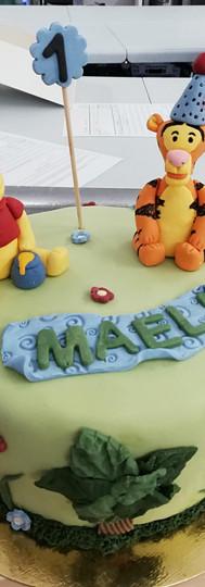 gâteau personnalisé Winnie L'Ourson