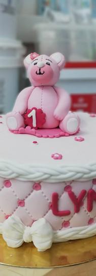 gâteau personnalisé ourson fille