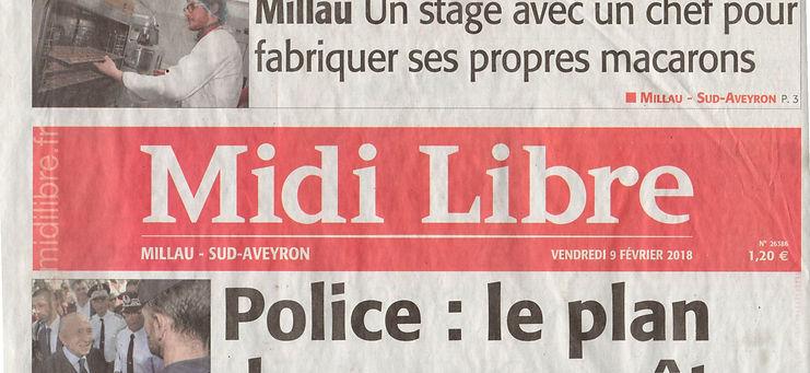 Midi Libre - édition Millau - 09/02/2018