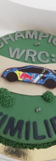 gâteau personnalisé WRC