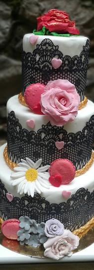 Gâteau de démonstration pour le salon de