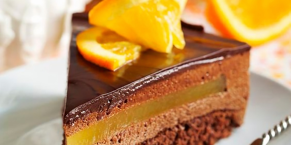 Atelier Entremets chocolat, cointreau et orange