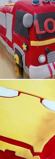 Camion de Pompier et casque d'Iron Man