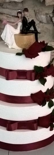 Wedding cake rouge et blanc