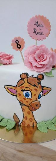 gâteau personnalisé girafe