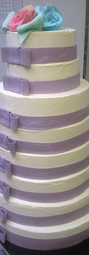 Wedding Cake Violet et Blanc