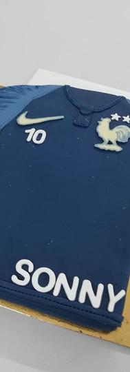 gâteau personnalisé maillot FFF