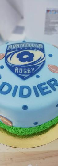 gâteau personnalisé rugby